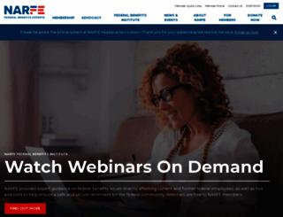 narfe.org screenshot