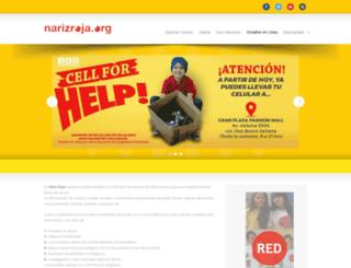 narizroja.org screenshot