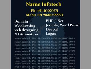 narneinfotech.in screenshot