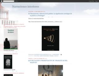 narracionesinteriores.blogspot.com screenshot