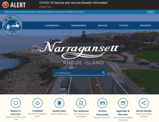 narragansettri.gov screenshot