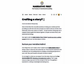 narrativefirst.com screenshot