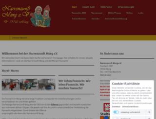 narrenzunft-murg.de screenshot