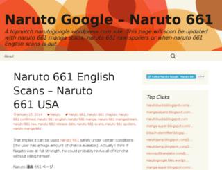 narutogoogle.wordpress.com screenshot