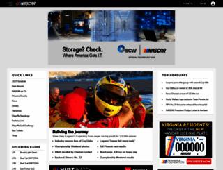 nascar.com screenshot