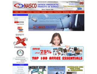 nascoofficeproducts.com screenshot