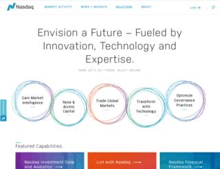 nasdaqomx.com screenshot