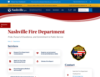 nashfire.org screenshot