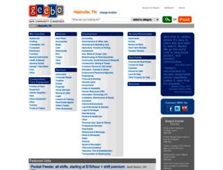 nashville-tn.geebo.com screenshot