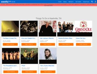 nashville.eventful.com screenshot