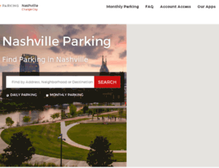 nashvilleparking.spplus.com screenshot