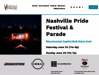 nashvillepride.org screenshot