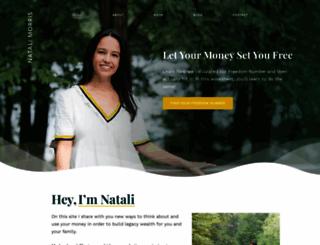 natalimorris.com screenshot