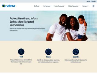 natera.com screenshot