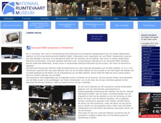 nationaalruimtevaartmuseum.nl screenshot