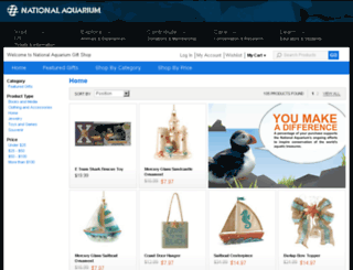 nationalaquariumgiftshop.com screenshot