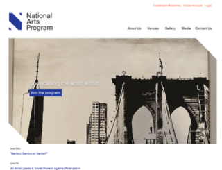 nationalartsprogram.org screenshot