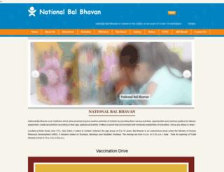 nationalbalbhavan.nic.in screenshot