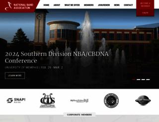 nationalbandassociation.org screenshot