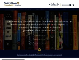 nationalbook.org screenshot
