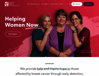 nationalbreastcancer.org screenshot