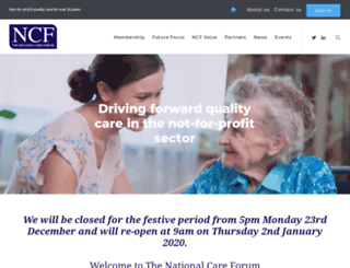 nationalcareforum.org.uk screenshot