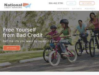 nationalcreditadvisors.com screenshot