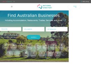 nationaldirectory.com.au screenshot
