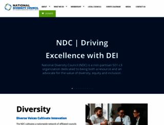 nationaldiversitycouncil.org screenshot
