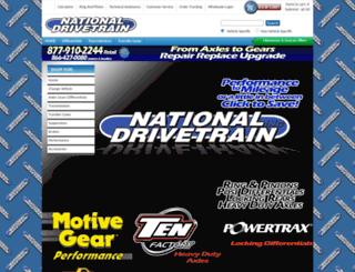 nationaldrivetrain.com screenshot