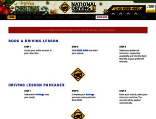 nationaldriving.com.au screenshot