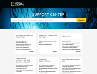 nationalgeographic.desk.com screenshot