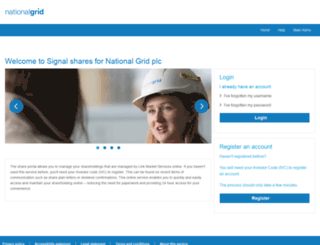 nationalgridshareholders.com screenshot