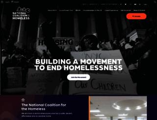 nationalhomeless.org screenshot