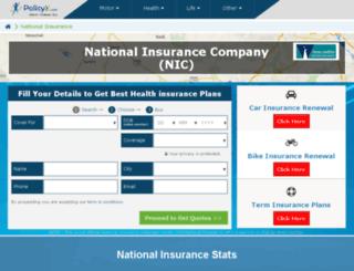 nationalinsurance.policyx.com screenshot