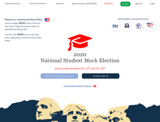 nationalmockelection.org screenshot