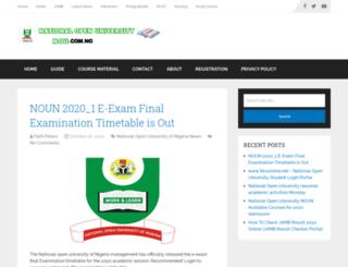nationalopenuniversity.org.ng screenshot
