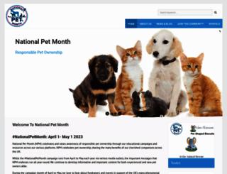 nationalpetmonth.org.uk screenshot