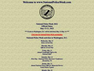 nationalpoliceweek.com screenshot