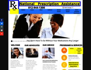 nationalprescriptionassistance.com screenshot