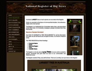 nationalregisterofbigtrees.com.au screenshot