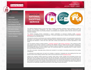 nationalshoppingservice.com screenshot