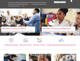 nationalstemcentre.org.uk screenshot