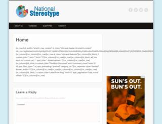 nationalstereotype.com screenshot