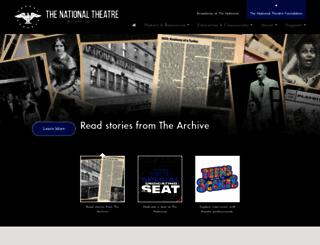 nationaltheatre.org screenshot