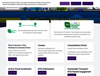 nationaltransport.ie screenshot