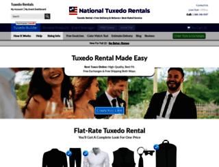 nationaltuxedorentals.com screenshot