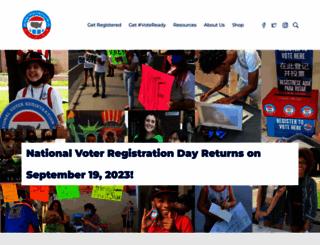nationalvoterregistrationday.org screenshot