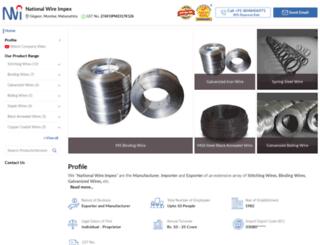 nationalwireimpex.com screenshot
