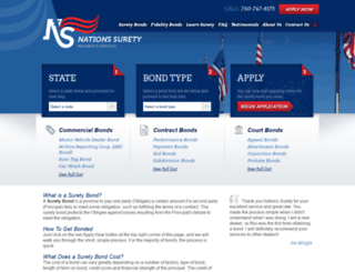 nationssurety.com screenshot